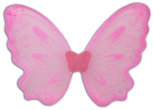 Engelsflügel Feenflügel rosa mit Glitzer - ca 47 cm