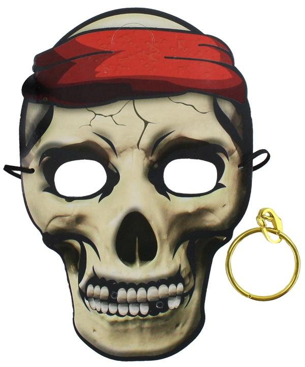 Piratenmaske mit Ohrring - im Beutel ca 25x17cm