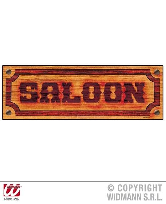 Schild Saloon Wanddeko ca 78 x 26 cm