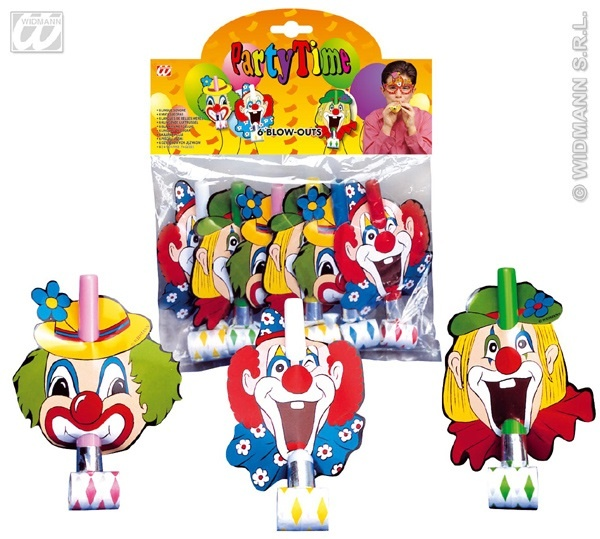 Luftrüssel Clown -3-fach sortiert - 6Stk