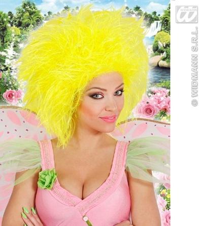 Perücke - Fairy - Fee neon gelb