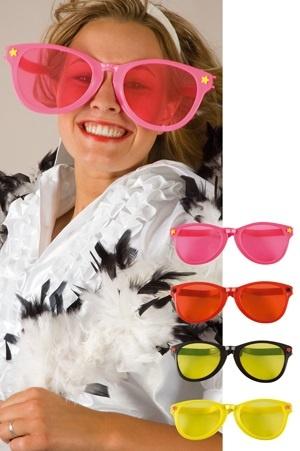 Brille - Jumbopartybrille 4 Farben sortiert