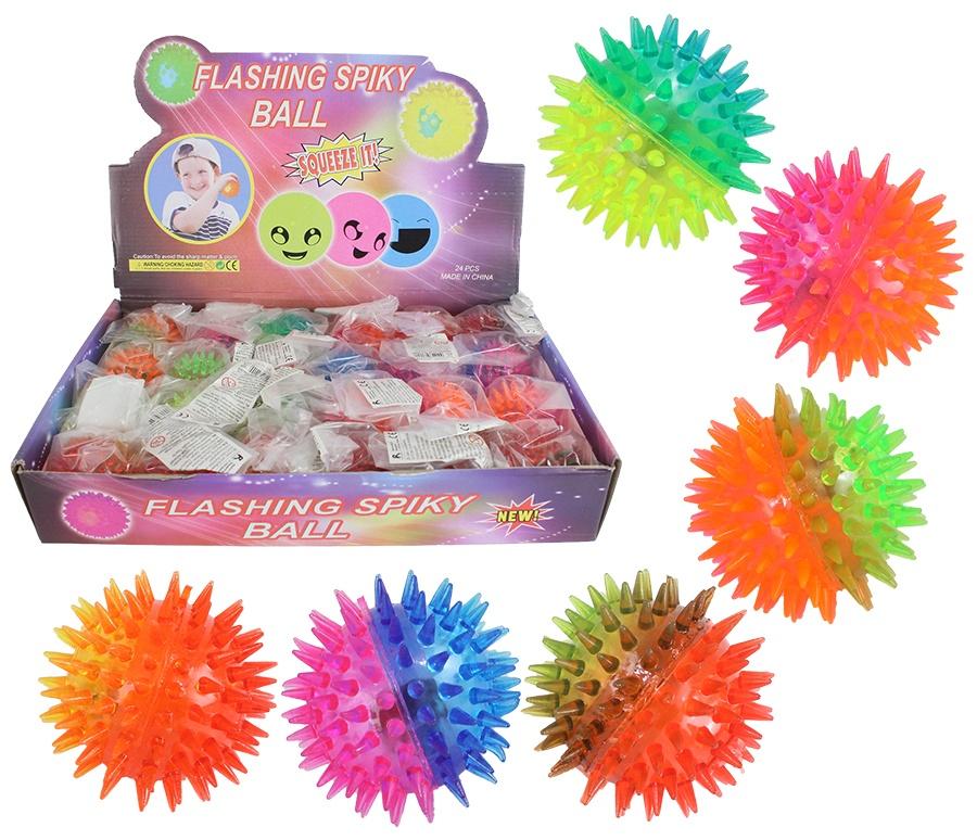 Leucht Noppenball 2-farbig - 6-fach sortiert ca Ø 6 cm