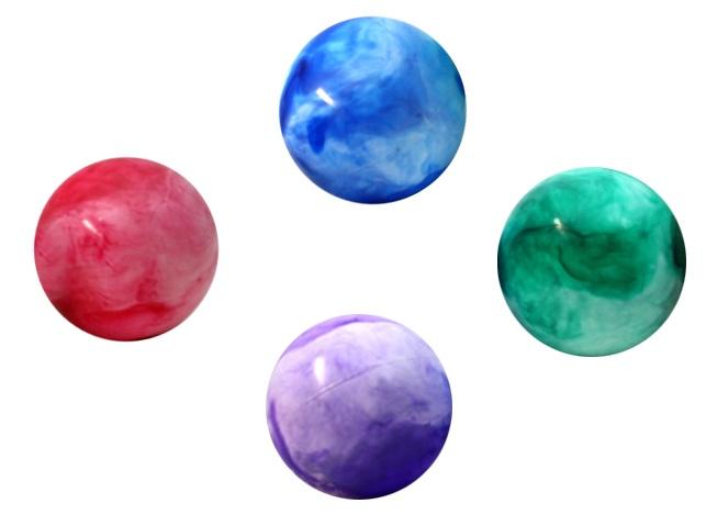 Ball - Aufblasball - marmoriert  4-fach sortiert - ca 25 cm