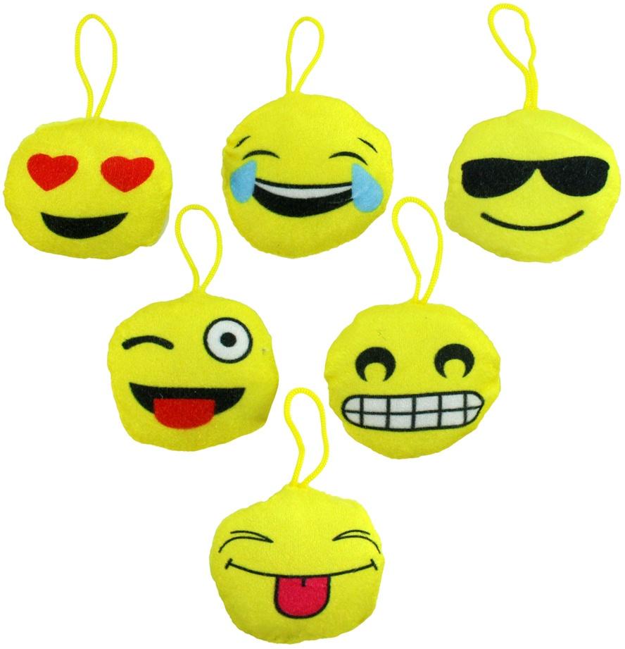 Kissen Emoticon Smilie 6-fach sortiert ca 85 mm