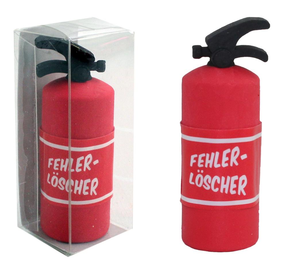 Radiergummi  Fehlerlöscher Design Feuerlöscher ca 5,5cm