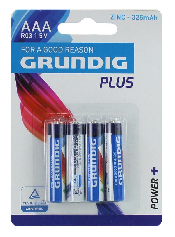 Batterie GRUNDIG  R3/AAA Micro - auf Karte ca 12x8,5cm