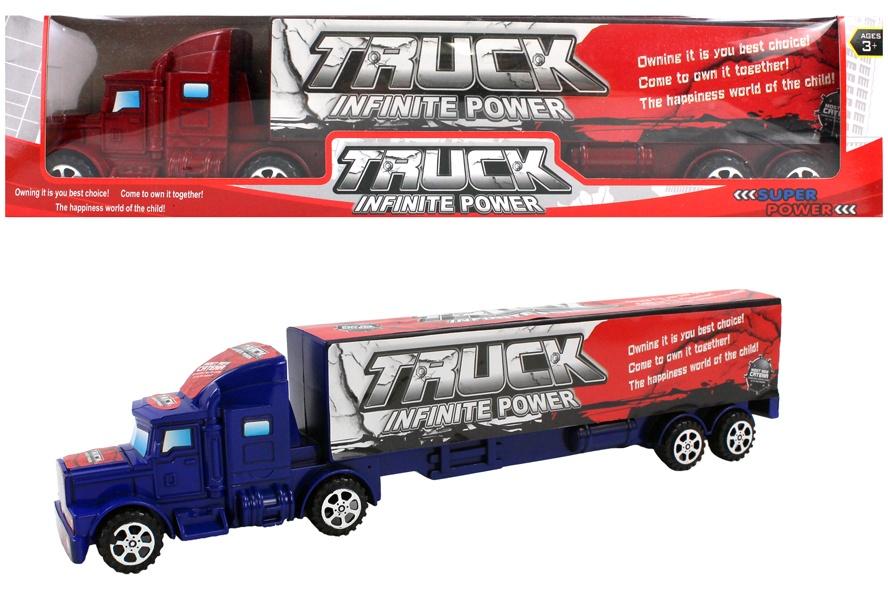 LKW 2-fach sortiert mit Container ca 38 x 8,5 x 6,5 cm