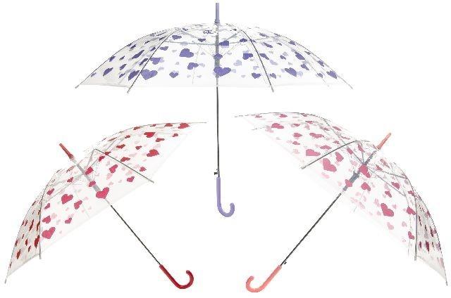 Regenschirm mit Herzdesign ca. 85 cm