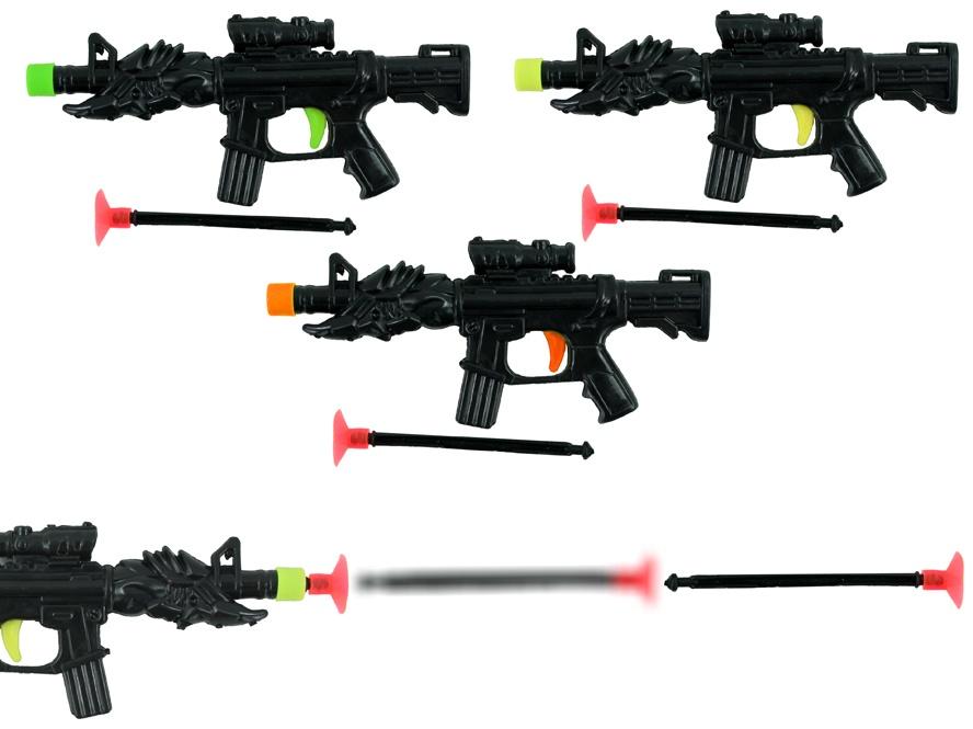 Pfeilpistole 3-fach sortiert mit 1 Pfeil ca 13 cm