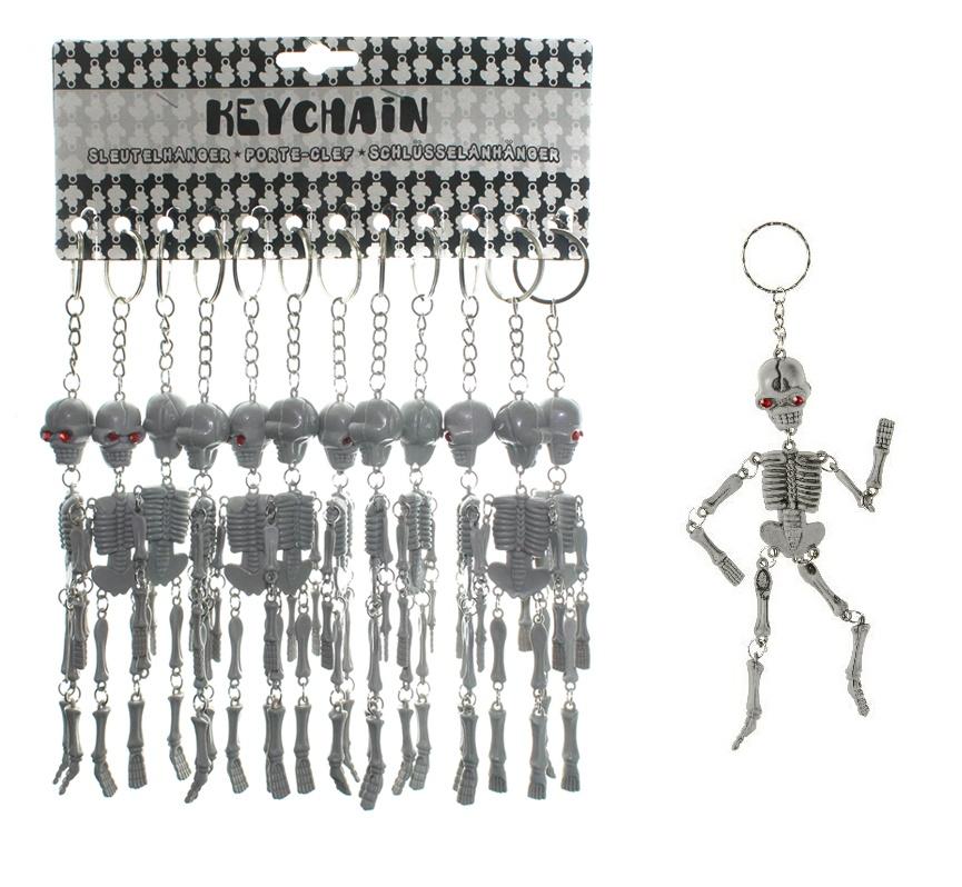 Skelett grau an Schlüsselanhänger - ca 15cm