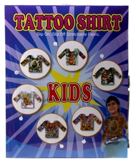 Tattoo - Shirt für Kinder 6-fach im Beutel ca 24x19cm
