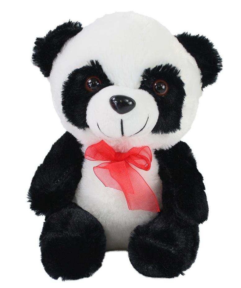 Panda Bär mit roter Schleife ca 22cm