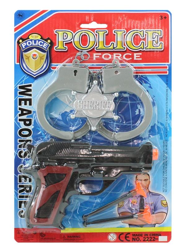 Polizeikarte mit Dartpistole - Karte ca 29x19cm