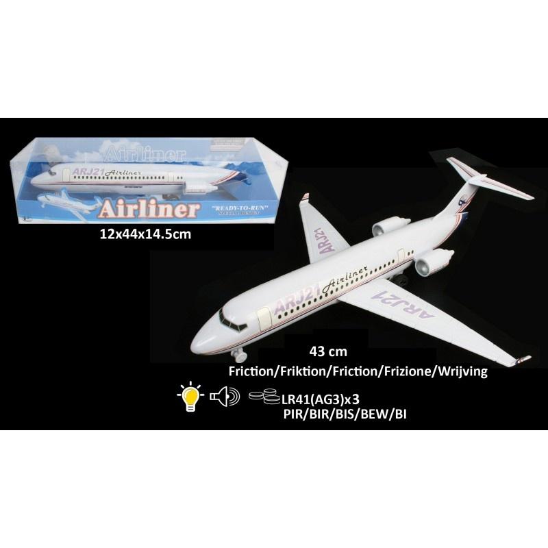 Flugzeug mit Licht und Ton - ca 43 cm