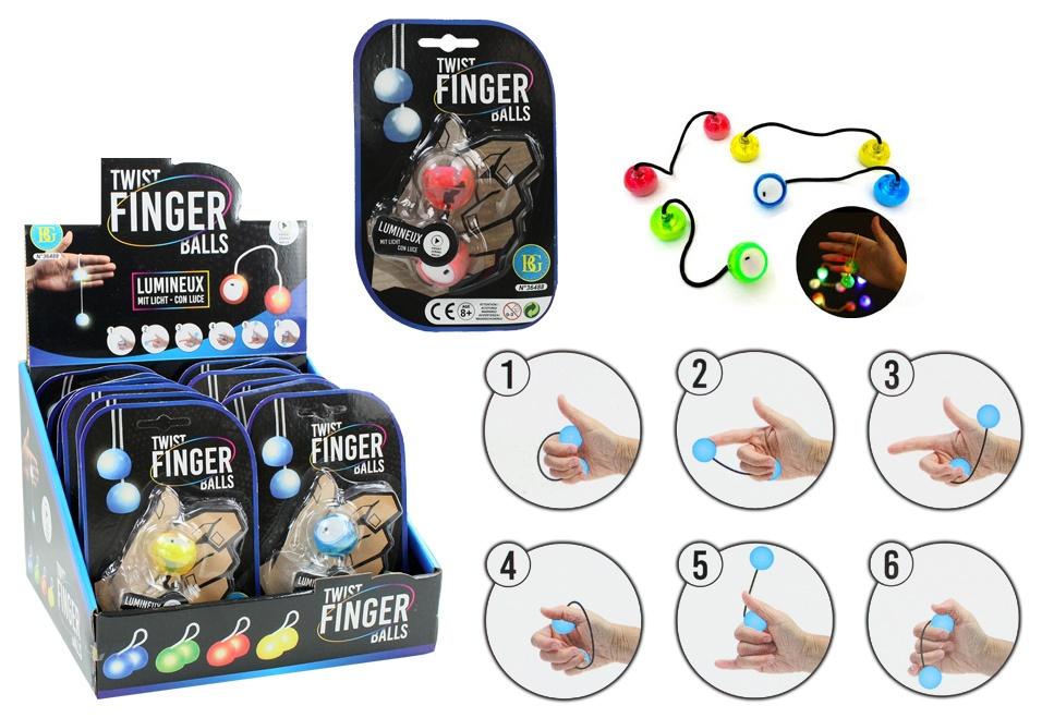 Geduldspiel Finger Jojo leuchtend 4-fach sortiert