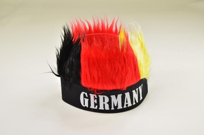 Deutschland Stirnband Mütze mit Haaren