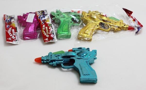 Pistole mit Geräuschen 2 Farben sortiert - ca 17cm
