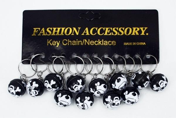 Piratenball Metall an Schlüsselanhänger - ca 25mm