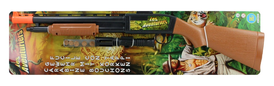 Gewehr mit 5 Korken - ca 63cm