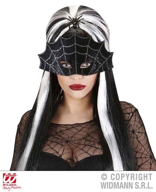 Augenmaske Spinnennetz ca 28cm breit