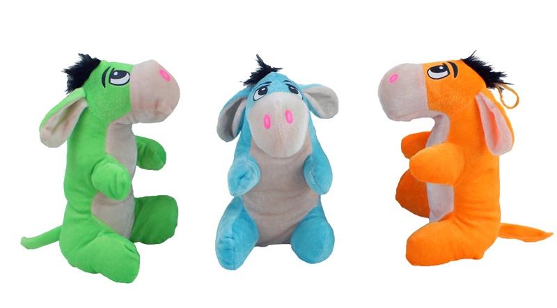 Esel 3-fach farbig sortiert ca 23 cm