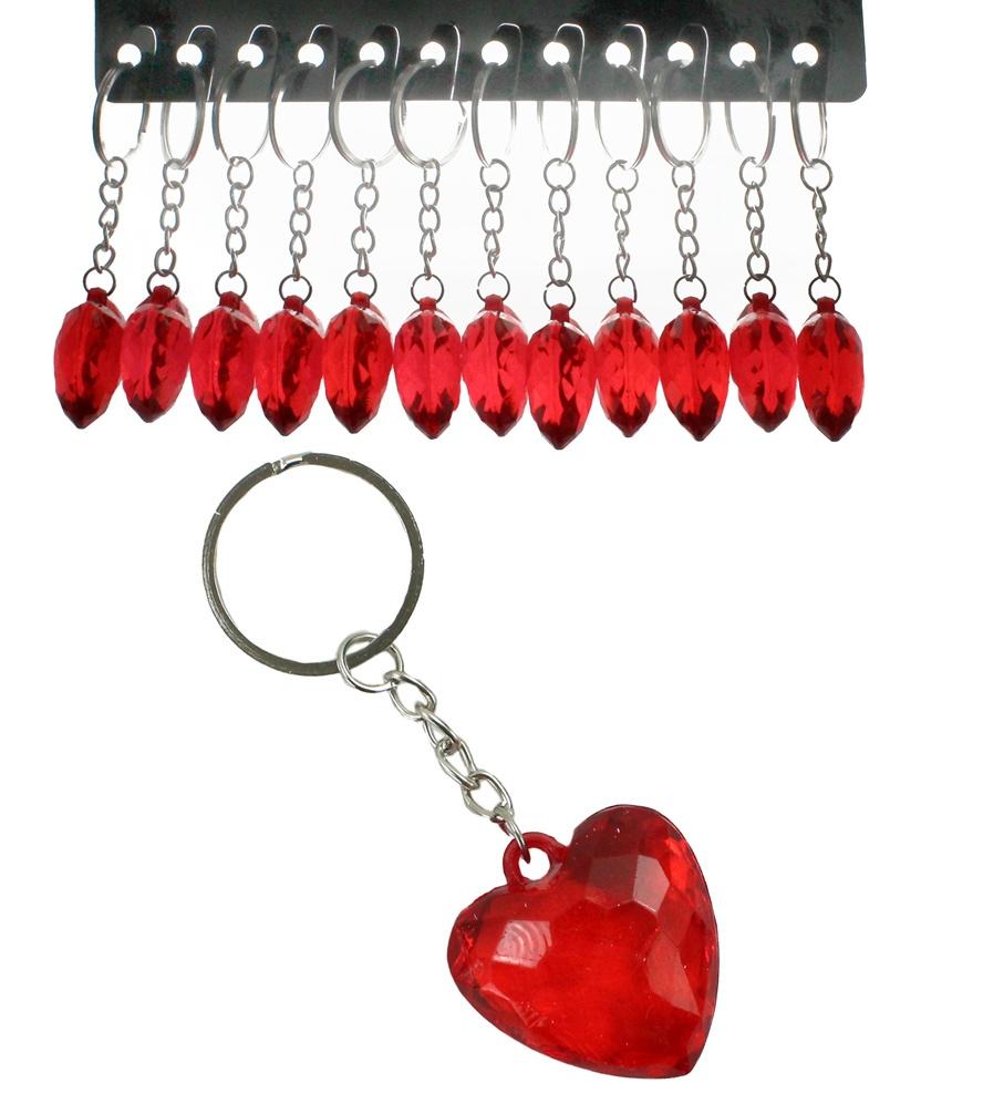 Herz rot an Schlüsselanhänger ca 3,5 x 3,5 cm