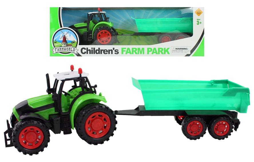 Traktor mit Anhänger ca 36 cm
