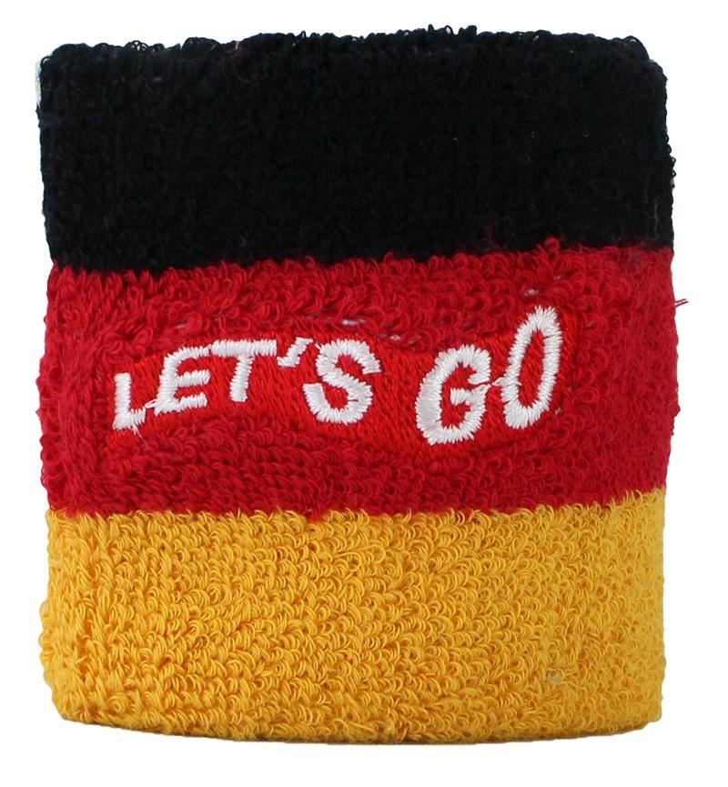 Deutschland-Schweißband mit Stickerei - ca 7x7cm