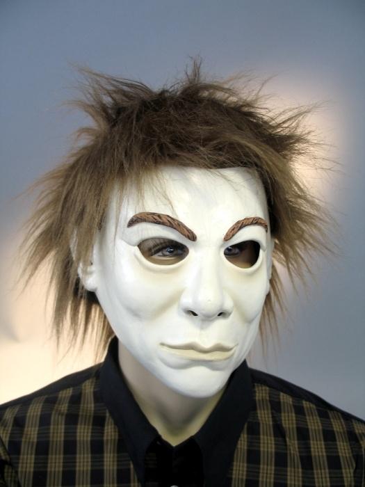 MaskeFantom mit Plüschhaar