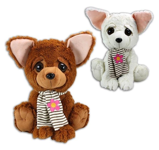 Chihuahua mit Schal 2-fach sortiert ca 50cm