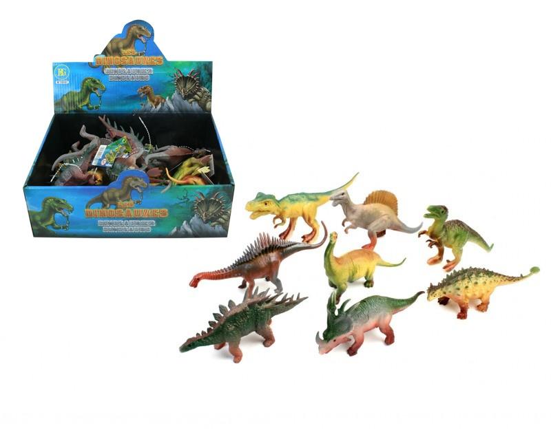 Dinosaurier 8-fach sortiert ca 14-17 cm