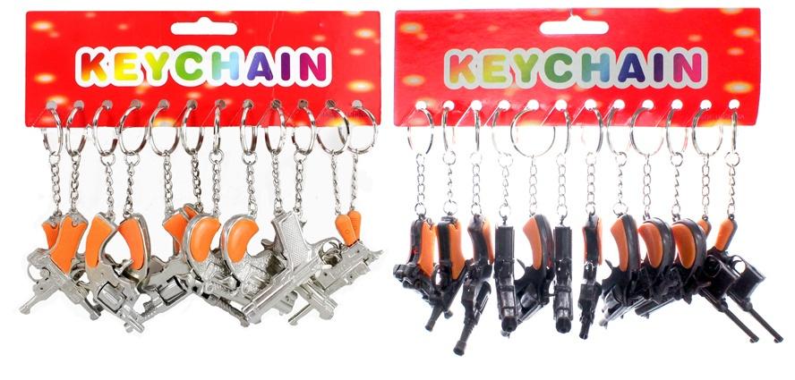 Pistolen sortiert an Schlüsselanhänger ca 5-6,5 cm