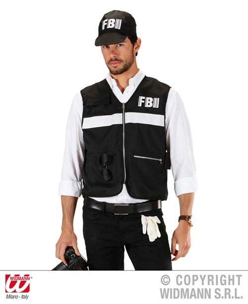 Kostüm - FBI Tatortermittler Größe XL