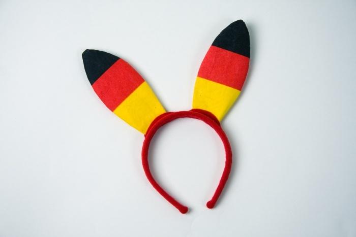 Kopfbügel mit Bunny-Ohren, Deutschlandfarben