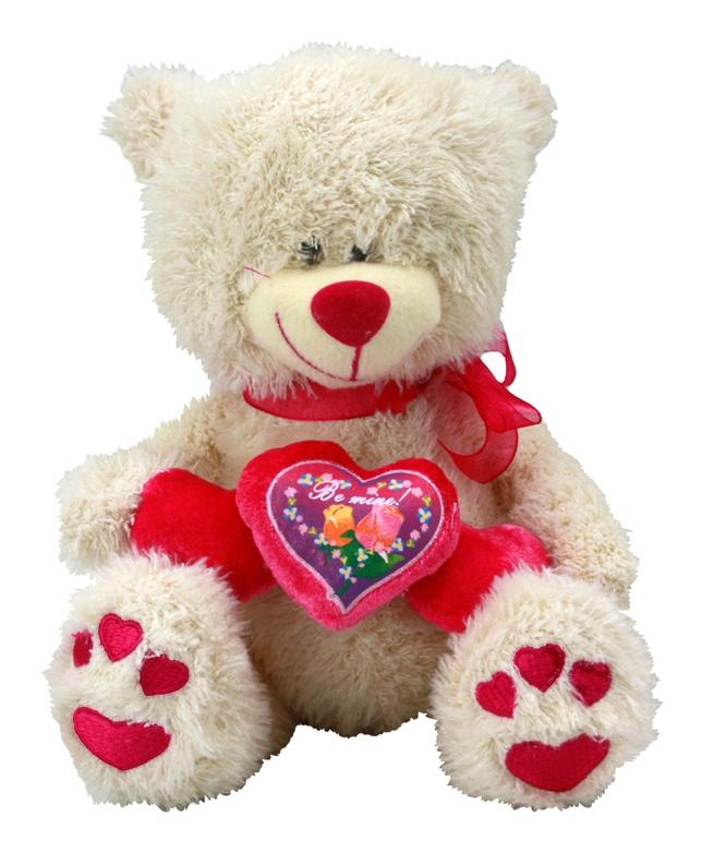 Bär mit Herzen Be mine - ca 21 cm