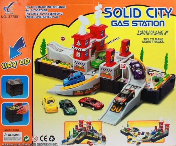 Tankstelle City Gas Station im Karton ca 38x32,5x6,5 cm