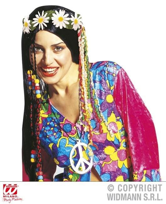 Haarschmuck mit Gänseblümchen und Mulitcolorbändern