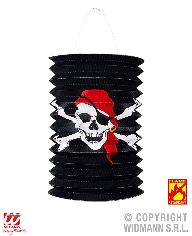 Laterne Pirat ca  Ø 16 cm - hoch ca 28 cm