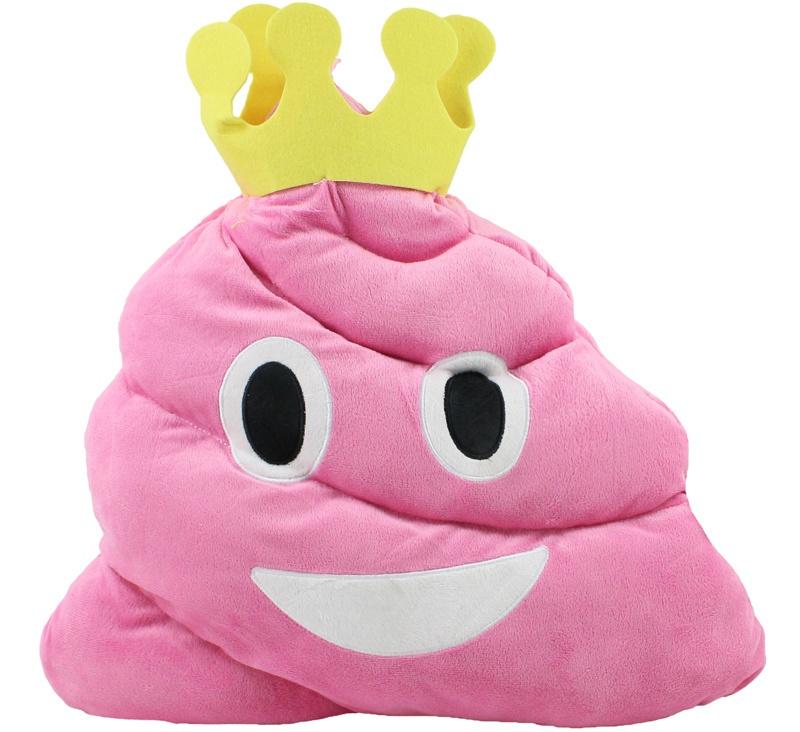 Plüsch Haufen pink mit Krone Emoticon ca 45 cm
