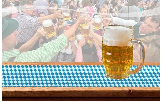 Tischläufer bayerische Raute ca  600 x 65 cm