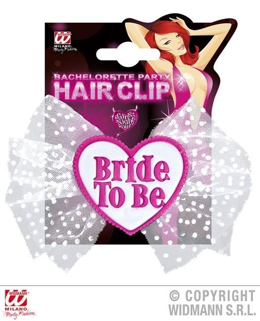 Haarspange Bride To Be mit Tüll - ca 14x10cm