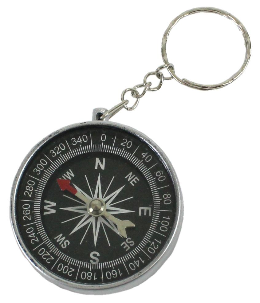 Kompass an Schlüsselanhänger ca  Ø 4,5 cm