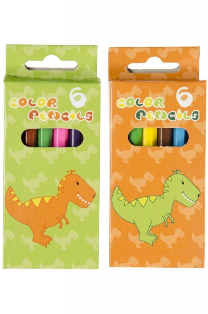 Buntstifte Dino  Design 6 Stück ca 9 cm