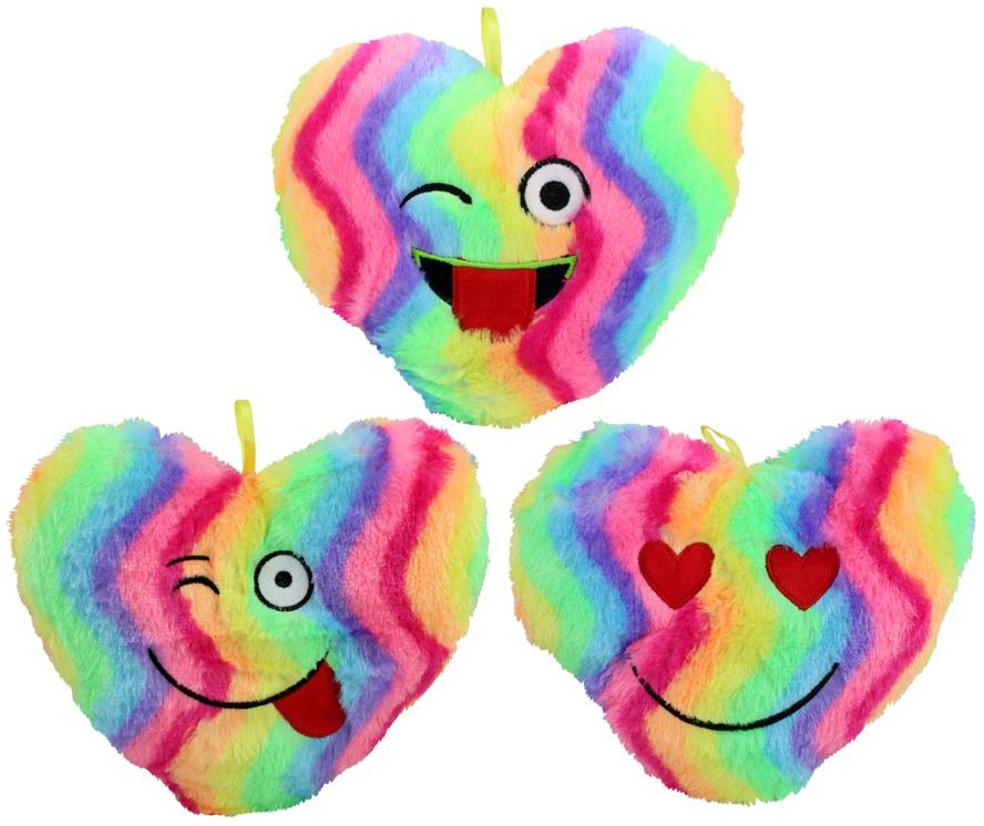Herz regenbogenfarbig 3-fach sortiert ca 30 cm