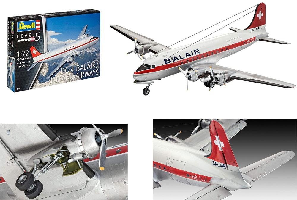REVELL Modellbausatz Iceland Airways DC-4 Balair 1:72