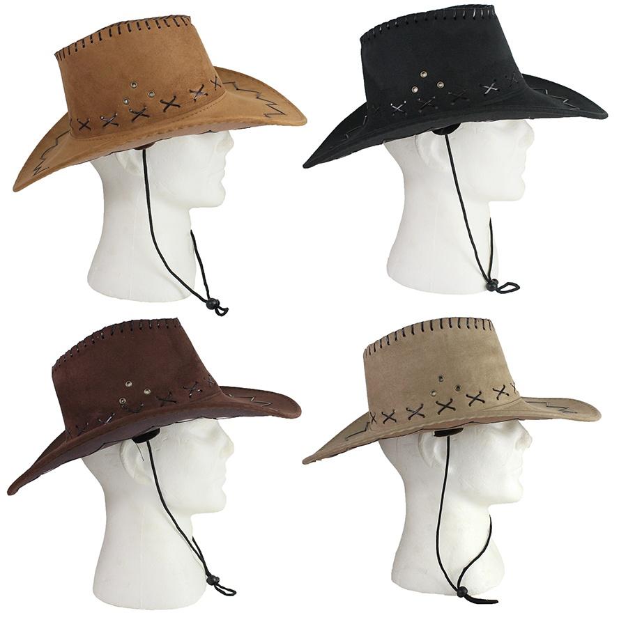 Cowboyhut 4 Farben sortiert Nubukleder