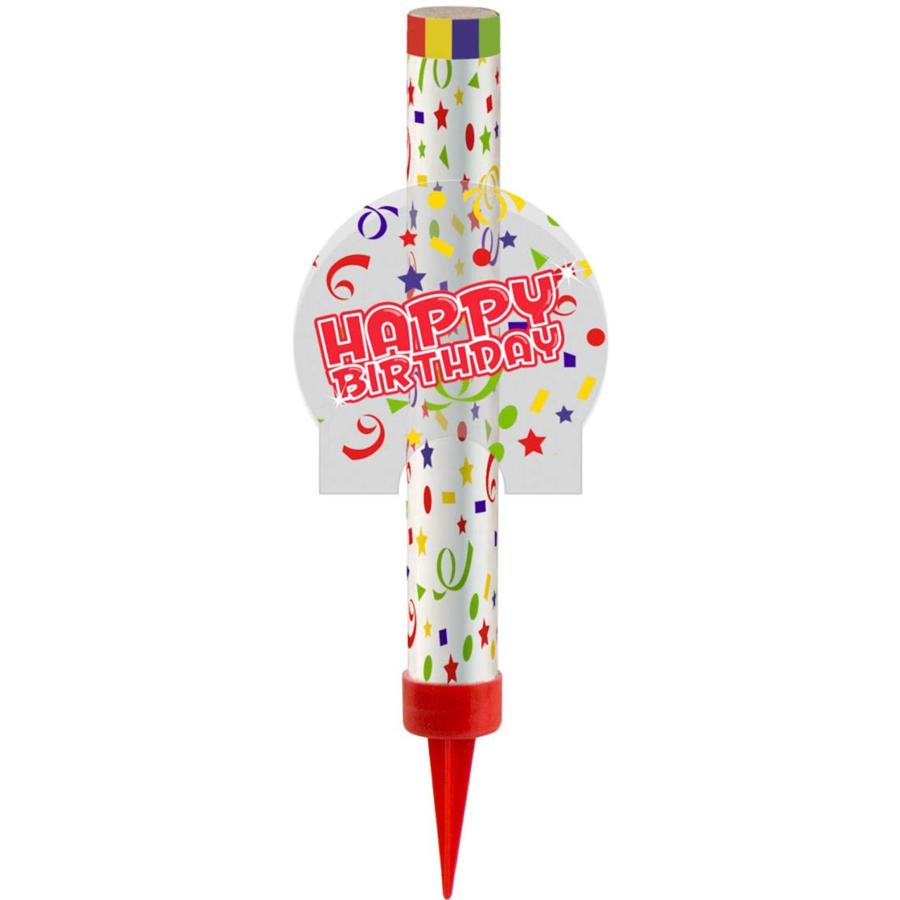 Tischfontäne Happy Birthday auf Karte ca 22x10cm