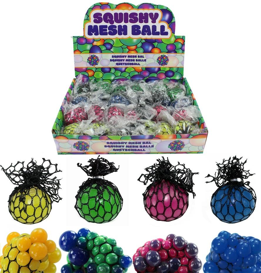 Knautschball 4-fach sortiert ca 5cm