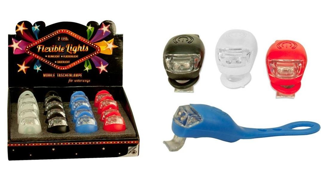 LED Light Lampe flexibel 4 farbig sortiert inkl Batterien